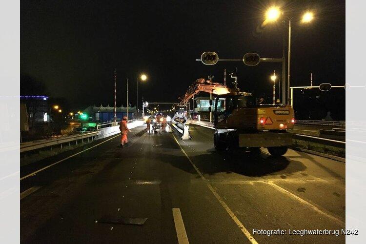 Leeghwaterbrug 14 en 15 mei afgesloten