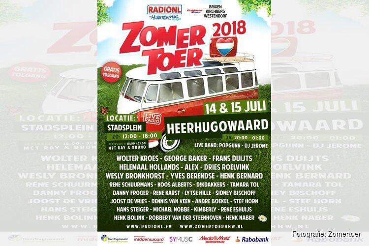 Line up RADIONL Zomertoer HHW 14 & 15 juli