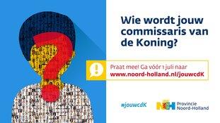 Ruim 1000 mensen praten mee over nieuwe commissaris van de Koning