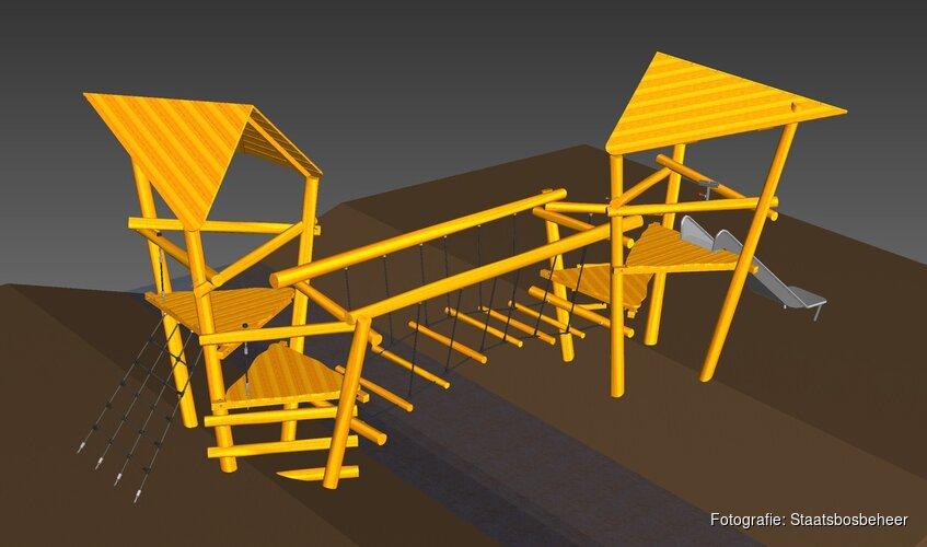 Nieuwe speeltoestellen en werkzaamheden in de Waarderhout