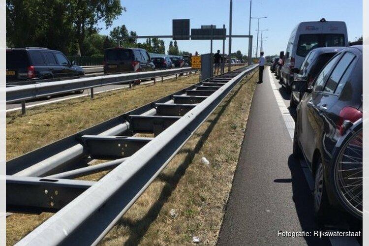 Storing Leeghwaterbrug bij Alkmaar verholpen: Verkeer weer op gang