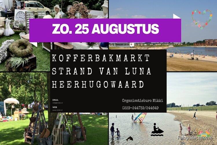 Zondag 25 augustus kofferbakmarkt op Strand van Luna
