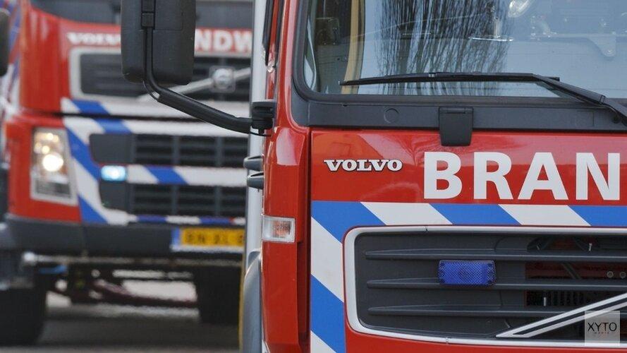 Autobrand bij tankstation Heerhugowaard