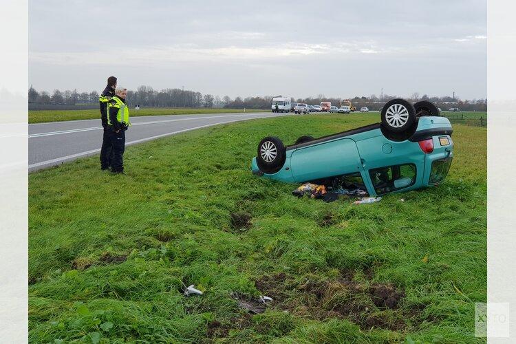 Vrouw gewond na eenzijdig ongeval op de N242