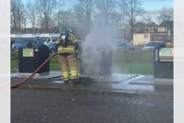 Containerbrandje in Middenwaard
