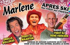 Marlène al helemaal aangekleed voor Apres-Ski (het Feest der Feesten)