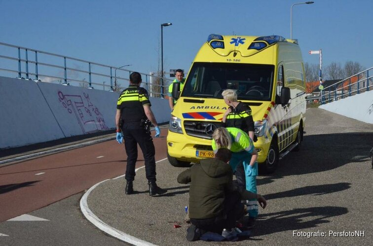 Fietser gewond bij valpartij fietstunnel Broekerweg