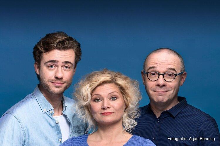 Owen Schumacher, Beau Schneider en Hanneke Drenth in komisch toneelstuk
