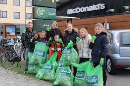 Jeugd Reiger Boys actief bij McDonalds tijdens Landelijke Opschoondag