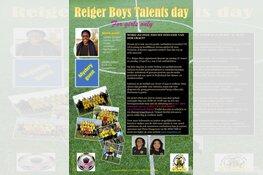 Talents Day Reiger Boys krijgt vervolg op 14 april