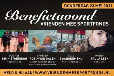 Benefiet Vrienden MEE Sportfonds met Robin van Galen
