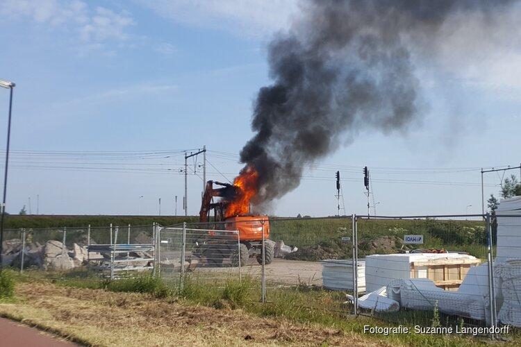 Brand bij industrieterrein Praxis