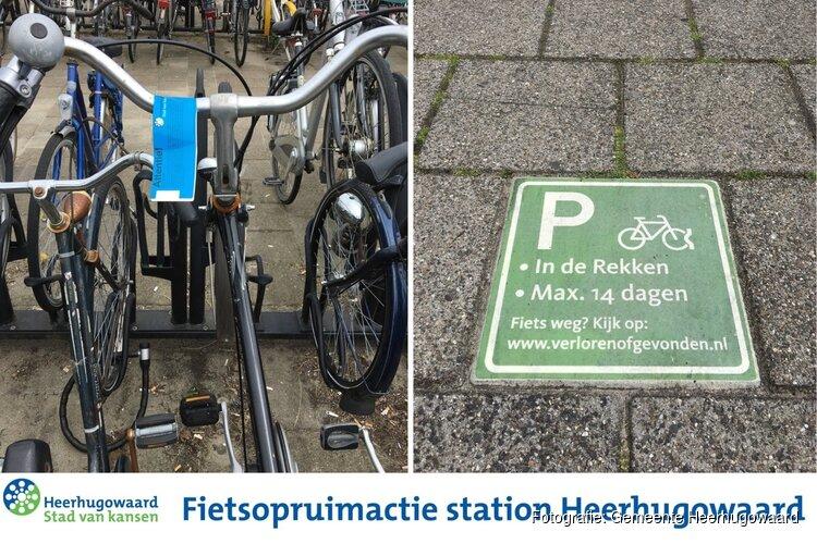 Komende vrijdag fietsenopruimactie bij station Heerhugowaard