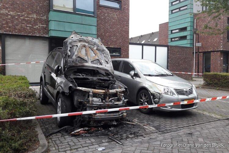Auto door brand verwoest aan Keerkring