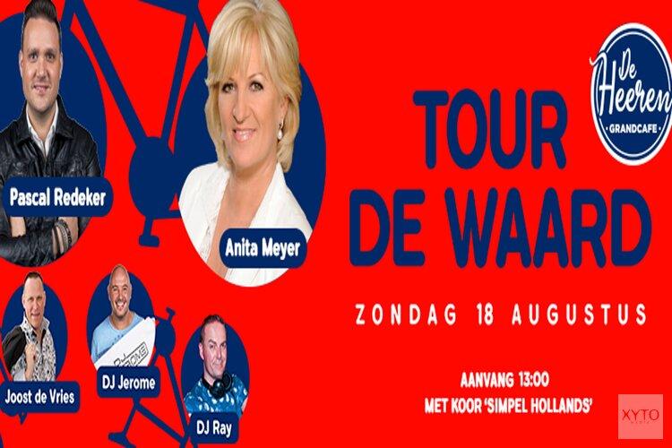 Feest in De Heeren tijdens Tour de Waard met o.a. Anita Meijer, Pascal Redeker en Joost de Vries