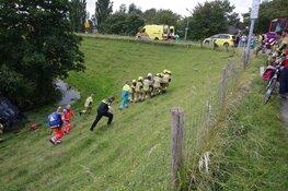 Auto te water bij Rustenburg, bestuurder gewond