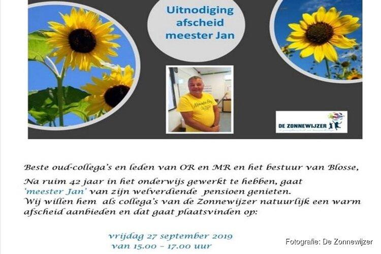 Meester Jan van De Zonnewijzer gaat met pensioen