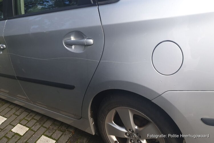 Drie auto's bekrast op Reuzenpandasingel/Keizerfazant