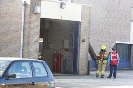 Machine in brand bij een bedrijf in Heerhugowaard