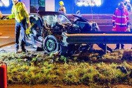 Grote ravage bij ongeluk op N242 in Alkmaar