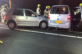 Ongeval A.C de Graafweg, automobilist bekneld