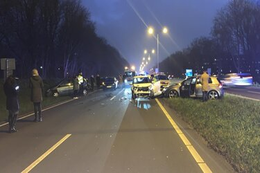 Ongeval met meerdere auto's op Alkmaarse ringweg