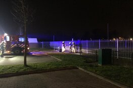 Dug-out in brand op Sportpark de Vork