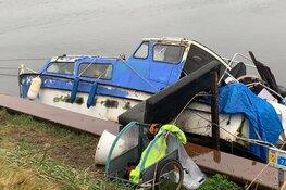 Boot van zwerver gezonken in Heerhugowaard