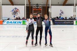 Milan Schenk uit Heerhugowaard behaalt brons tijdens NK Shorttrack
