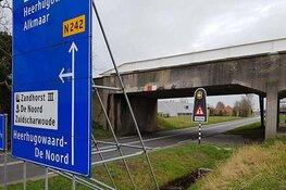 Langebalkbrug (N242) in Heerhugowaard in avond en nacht dicht
