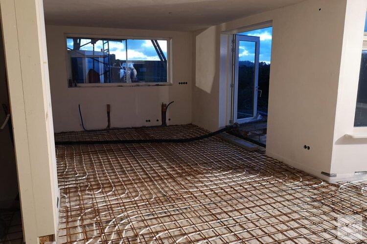 Vloerverwarming in combinatie de magnesietvloer
