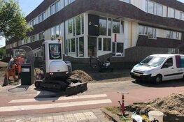 Gasleiding geraakt voor Huygens College