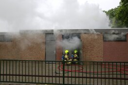 Brand bij sportvereniging Victoria O.