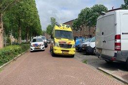 Scooter aangereden door achteruit rijdende bus