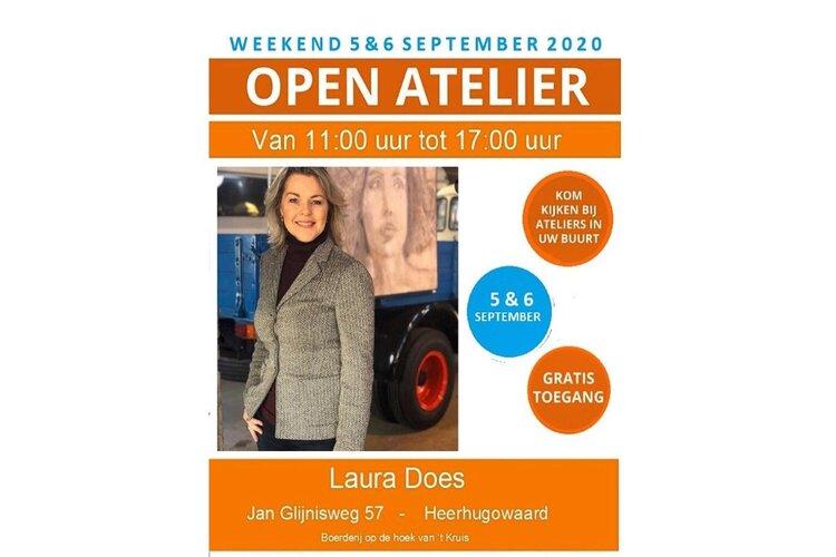 Deelname Laura Does aan Landelijk Atelierweekend op 5 en 6 september