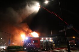 Grote brand in Heerhugowaard