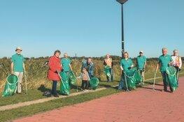 Wethouders Langedijk, Heerhugowaard en Provincie ruimen zwerfafval langs de N242