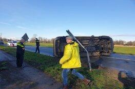 Weg in Heerhugowaard afgesloten na ongeluk