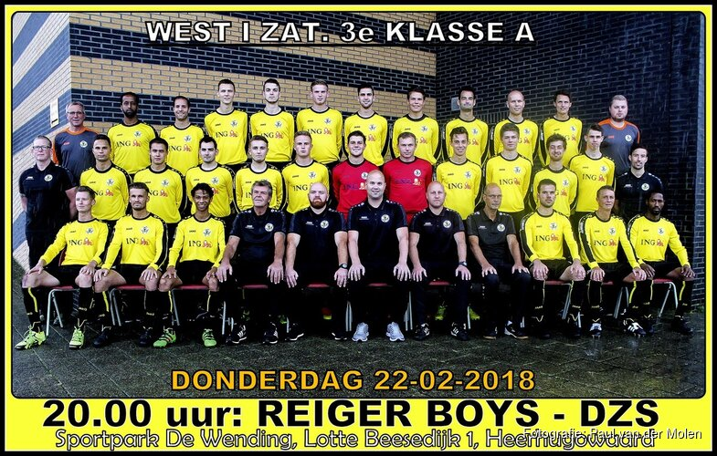 Reiger Boys - DZS op donderdagavond