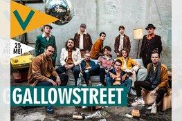 Twaalfkoppige brassband Gallowstreet in Podium Victorie