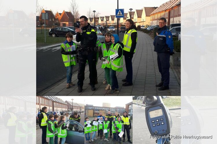 Groep 7 van basisschool de Reflector helpen Boa's en politie Heerhugowaard